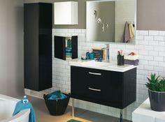 Salle de bain noir et blanc alinea