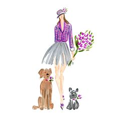 Welcome March! I love seeing tulips everywhere...the surest sign of spring!  Fashion illustration by Beth Briggs  bbriggsillustration.etsy.com