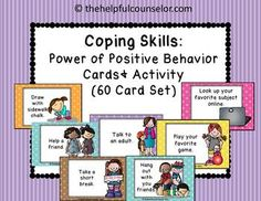 Do you work with children who need to develop their positive coping skills? Do they get stuck on the negative and have a hard time figuring out what to do next?I created this coping skills card set and activities to help my students learn how to change their behavior in stressful situations.