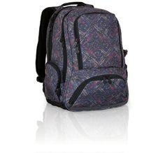 Plecak młodzieżowy w szarych kolorach. Szary, jak szarość miasta, które przemierza gimnazjalista do szkoły :-)