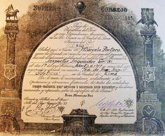 Documentos antiguos: PERGAMINO NOMBRAMIENTO MASONICO INSPECTOR INQUISIDOR MASON GRADO 31 Y SELLO EN PLACA. MASONERIA MAS - Foto 2 - 45505359