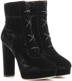 jimmy choo deon lace up velvet platform ankle boots