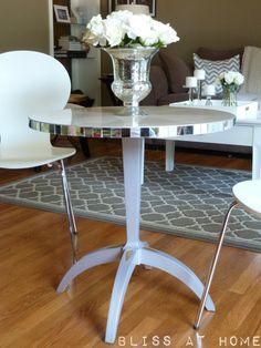 DIY Mirrored Furniture Tutorial