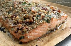 Pecan-crusted honey mustard salmon makes for a fast and easy preparation and an elegant presentation!