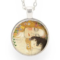 Mother And Child Necklace, Art By Gustav Klimt – CellsDividing