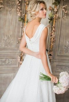 Alison Couture for 2016/17 chantilly lace dress over layers of organza and satin