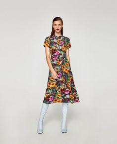 ZARA FLORAL MIDI SHIRT DRESS  29.95 EUR CODE: 7868/521