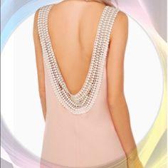 n♡e♡w♡Backless Pastel Chiffon Mini Dress Sz M n♡e♡w♡ ⭐️Backless BOHO Pastel Chiffon Mini Dress.  A-line.  Sleeveless.  Size: M   The Haute Holly-Would Hive LLC Dresses Mini
