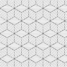 Papel de Parede Autocolante 3D Geométrico Branco e Preto 237661555 Geometric Patterns, Adult Coloring, Coloring Pages, Op Art, Textured Walls, Screen Printing, Pattern Design, Stencils, Quilts