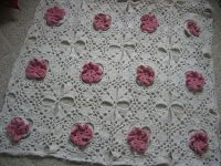 Donna's Crochet Designs Blog of Free Patterns: Free Crochet Afghan Pattern: Flowers In The Snow