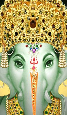 Damien gently opened the nursery door. He and his friend walked into… Sri Ganesh, Lord Ganesha, Ganesha Art, Om Gam Ganapataye Namaha, Elephant Artwork, Shiva, Krishna, Indian Folk Art, Indiana