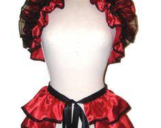 BURLESQUE jupe et boléro haussement d'épaules d'agitation ensemble gothique, steampunk, victorien gothique, jupe agitation, jupe victoriana, moulin rouge