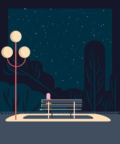 Lonely Night on Behance