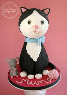 Cat and Mouse Birthday Cake - Cake by The Clever Little Cupcake Company