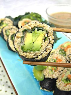 cool Raw sushi - Liver cleansing raw food diet recipes. Learn how to do a liver flush...
