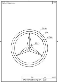 Mercedes-benz logo - Cars and motor Logo Mercedes, Isometric Drawing Exercises, Draw Logo, Interesting Drawings, Affinity Designer, Mechanical Design, Cad Drawing, Logo Design Inspiration, Branding Design