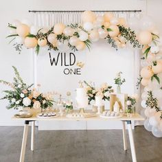 Wild One Backdrop Sign - Laser Cut Acrylic First Birthday Wall Decor with Crown . Wild One Backdrop Sign - Laser Cut Acrylic First Birthday Wall Decor with Crown accent, Childrens Nursery Bedroom Sign, Boys Birthday Sign Birthday spread & back drop idea Birthday Wall, Wild One Birthday Party, Baby Party, First Birthday Parties, Birthday Party Decorations, First Birthdays, Birthday Backdrop, Birthday Desserts, Baby Girl Birthday Theme