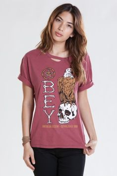 OBEY AMERICAN DISSENT TEE $37