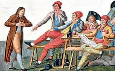 Sans-culottes--working class people or common people of Paris. They were named this because they didn't wear culottes. Sans Culottes, How To Style Culottes, The Scarlet Pimpernel, Bastille Day, Common People, Theatre Costumes, French Revolution, Period Costumes, Napoleonic Wars