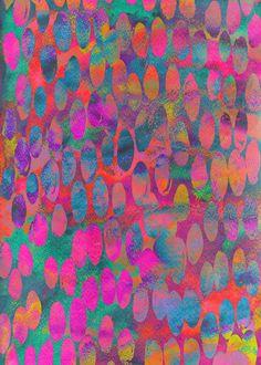 'Painterly Spots' pattern by Georgiana Paraschiv - color inspiration Motifs Textiles, Textile Patterns, Surface Pattern Design, Pattern Art, Pretty Patterns, Illustrator, Painting Inspiration, Color Inspiration, Pattern Wallpaper