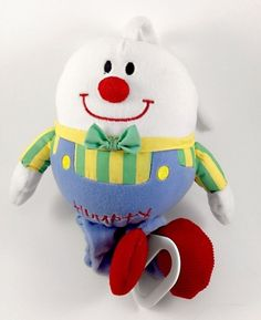 "Kids II Humpty Dumpty Musical Plush Pull Baby Crib Swing Car Seat Toy 9""-17""  #KidsII"