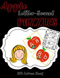 There are 26 letter-sound puzzles, one for each letter of the alphabet, as well as 3 corresponding worksheets. Letter Matching Game, Matching Games, Phonics Lessons, Phonics Worksheets, Beginning Sounds, Project Board, 26 Letters, Letter Sounds, Student Learning