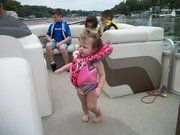 Madison enjoying a boat ride.