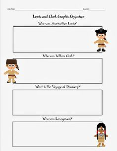 lewis and clark printable worksheets and coloring pages graphic organzier for lewis and clark includes sacagawea on tpt