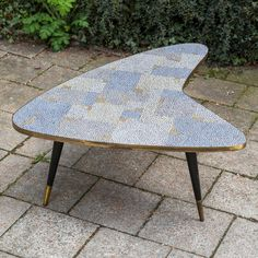 Mosaic Coffee Table by Berthold Müller | From a unique collection of antique and modern coffee and cocktail tables at https://www.1stdibs.com/furniture/tables/coffee-tables-cocktail-tables/