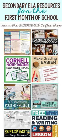 Back to School ELA Resources for Middle / High School - Start your new school ye. Back To School Tips For Middle School Middle School Ela, Middle School English, Ela High School, High School Teachers, 7th Grade English, High Schools, Middle School Classroom, English Classroom, Ela Classroom