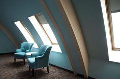 suggestioni nell'#architettura del Gasterij De Roode Schuur Hotel grazie al sistema di #finestre FAKRO