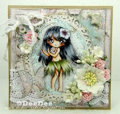 DeeDee´s Card Art: ♥ Copic Marker Europe DT - Hula Girl of Make it Crafty ♥ Copics: Haut/Skin: Haare/Hair: Augen/Eyes: Hula Rock/Hula skirt: Blume/Flowers: Hintergrund/Background: Pretty Cards, Cute Cards, Handmade Card Making, Coloring Tutorial, Hula Girl, Beautiful Handmade Cards, Card Making Inspiration, Digi Stamps, Copics
