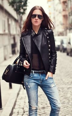 Istanbul street style russian fashion blogger leather jacket outfit - 1000 Images About Leather Forever On Pinterest Leather