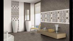 "Install big tiles or baby on your bath wall.[[caption id="""" align=""aligncenter"" tiles design kajaria - Somany Bathroom Wall Tiles Bathroom Tiles Images, Modern Bathroom Tile, Bathroom Tile Designs, Bathroom Floor Tiles, Wall And Floor Tiles, Bathroom Interior, Bathroom Wall, Bathroom Ideas, Bathtub Ideas"