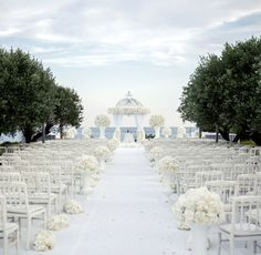 Featured Photographer: And… Incredible luxury white destination wedding ceremony; All White Wedding, Star Wedding, Mod Wedding, Fall Wedding, Rustic Wedding, Dream Wedding, Wedding Church, White Weddings, Wedding Bells