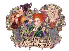 Hocus Pocus by IriusAbellatrix on DeviantArt Película Hocus Pocus, Hocus Pocus Movie, Hocus Pocus Witches, Hocus Pocus Disney, Hocus Pocus Quotes, Disney Halloween, Best Halloween Movies, Halloween Art, Halloween Spells