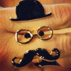 Mustache ring! How cute?!