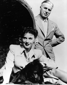 Paulette Goddard and her (maybe) husband Charlie Chaplin