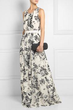 Giambattista Valli|Floral-print silk-georgette maxi dress r u kidding me $958 ??? .. yeah ..i'm so making it myself !