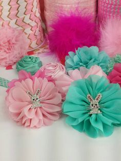 Thinking about making a princess bunny headband and pink is my top color choice but why not try out aqua too!  What colors would you use?