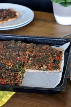 Grünkohl Pizza, Kale Pizza, Grünkohlkuchen, vegan, vegetarisch