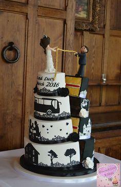 Silhouette wedding cake ~ we ❤ this! moncheribridals.com