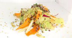 Germeni de varza rosie in salata de cruditati cu susan Quinoa, Risotto, Ethnic Recipes, Food, Salads, Essen, Meals, Yemek, Eten