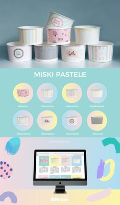 #paperbowls #bowls #confectionery #pastels #pasteldesign #graphicdesign #packaging #design #graphic #paper #kramsa