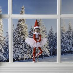 This elf is dancing a magical morning ballet! #ScoutElfIdeas | Elf on the Shelf Ideas | Ideas for Scout Elves | Easy Elf Ideas  | Scout Elves At Play | Elf Tools