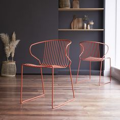 Orange metal chair - Sale of chairs at Tikamoon Metal Stool, Metal Chairs, Kitchen Chairs, Dining Room Chairs, Leather Bean Bag Chair, Loft Style Homes, Mid Century Modern Armchair, Mesh Office Chair, Chairs For Sale