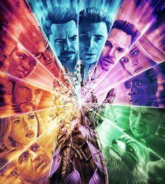 Avengers: Endgame artwork by Sam Gilbey Marvel Avengers, Marvel Vs Dc Comics, Films Marvel, Marvel Art, Marvel Memes, Captain Marvel, Avengers Names, Captain America, Poster Marvel
