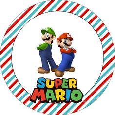 TATU-BOLINHA DECORAÇÃO: Kit para imprimir: Super Mário Super Mario Bros, Super Mario Birthday, Mario Birthday Party, 7th Birthday, Birthday Parties, Mario Party, Mario Bros., Mario And Luigi, Nara