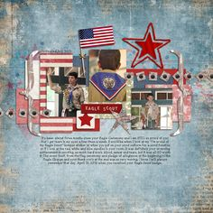 Eagle Pride by Staciahall    I love everything about this layout, especially the fact that it's made by one of my digisisters who is an amazing, prolific scrapper!
