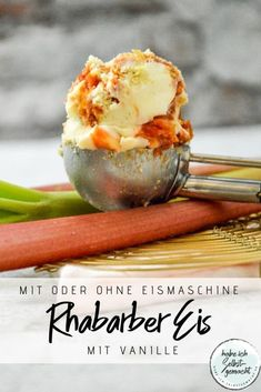 Rhabarber Eis mit Vanille - Rhabarber Eis mit Vanille – Habe ich selbstgemacht Imágenes efectivas que le proporcionamos sobre - Smoothie Recipes, Smoothies, Sorbets, Eating Plans, Food Items, Fruits And Veggies, Parfait, A Food, Meal Planning